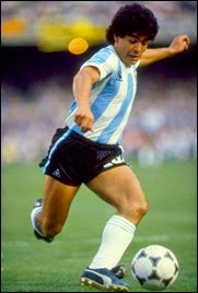 The Incredible Maradona in action