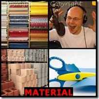 MATERIAL- 4 Pics 1 Word Answers 3 Letters
