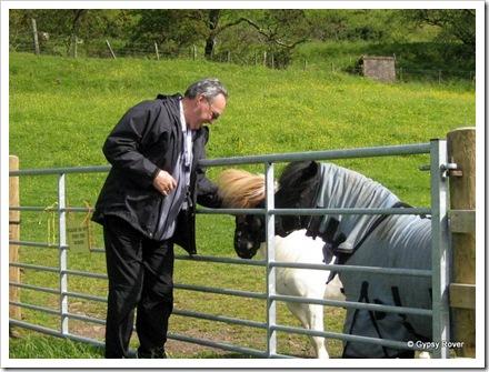 Derek talking to our neighbours at South Whittlieburn farm.