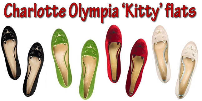 Charlotte Olympia 'Kitty' flats