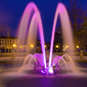Padova fountain by Pietro Ebner - City,  Street & Park  Night ( , colorful, mood factory, vibrant, happiness, January, moods, emotions, inspiration )