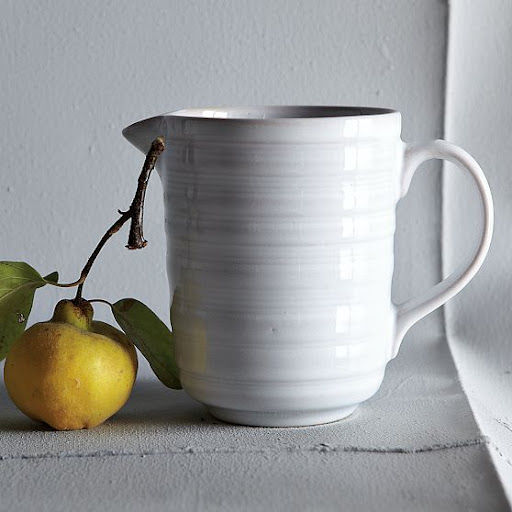 A large pitcher is great to have on hand for water, a mixed drink, or even a floral arrangement. (westelm.com)