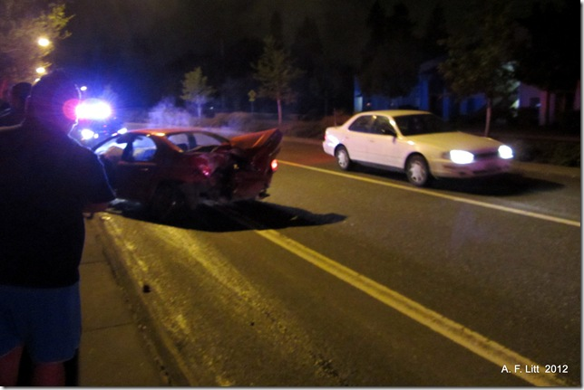 Drunk driver crash and run.  Powell Blvd.  Gresham, Oregon.  May 9, 2012.  12:12 AM.