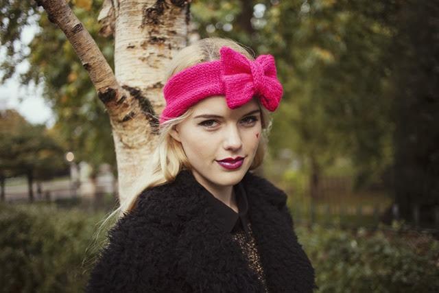 glitter-pink-knitted-bow-headband-knitted-headband