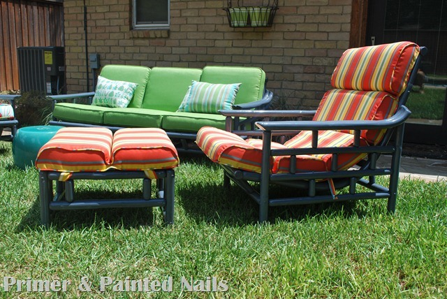 Bamboo Chair & Ottoman After Side
