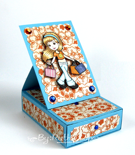 The Paper Shelter - Shopping girl - easel card box - Silhouette Cameo - Ruthie Lopez - My Hobby My Art 3