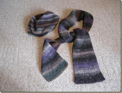 Noro scarf-cap