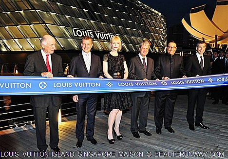 Louis Vuitton Island Singapore Maison Opening Cate Blanchette at Marina Bay Sands