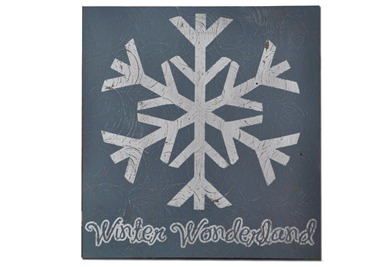 Blue Winterwonderland Snowflake Plaque