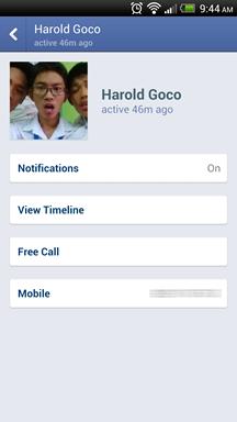 Facebook Messenger Calls Screenshot