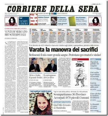 Corriere della Sera (clicca per ingrandire)