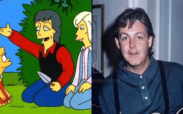 Foto de la version Simpson de Paul Mccartney