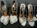 What shoes should Liz choose? We called in models from My Glass Slipper and Perfect Details. These are Badgley Mischka.