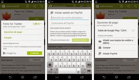 Ya es posible comprar en Google Play con PayPal