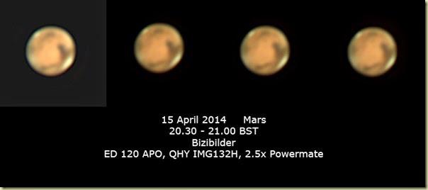 15 April 2014 Mars
