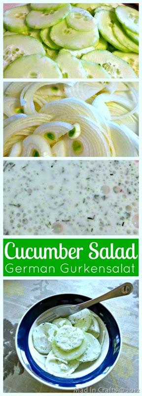 gurkensalat collage
