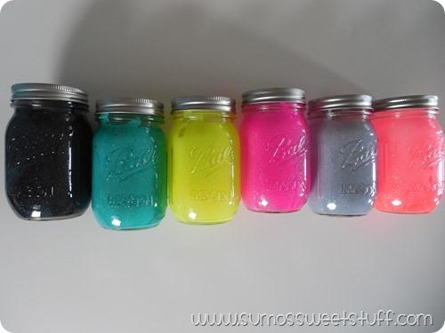 Sumo's Sweet Stuff - Mason Jar Glitter Votives #craftyjars