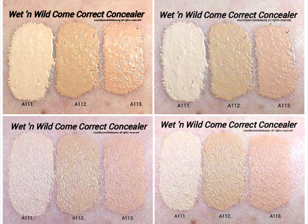 Wet N Wild Come Correct Concealer Review Swatches Of Shades