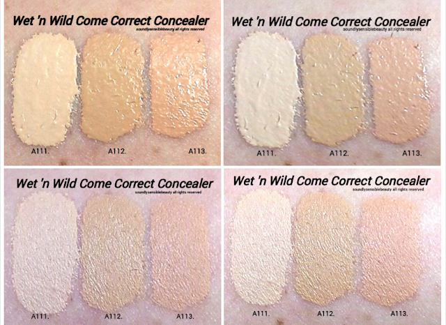 Wet 'n Wild Fergie Come Correct Celebrity Concealer; Review & Swatches of Full Coverage Shades