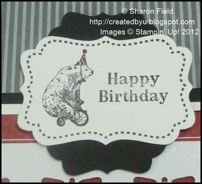 tagtastic hostess birthday bear and two decorative label punched accents