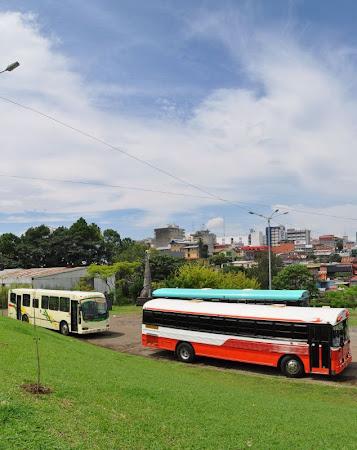 Transport Costa Rica: Autobuzele spre Cariari (Tortuguero)