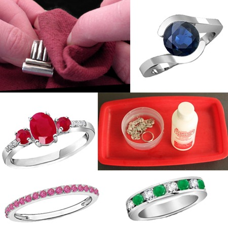 Platinum jewelry care