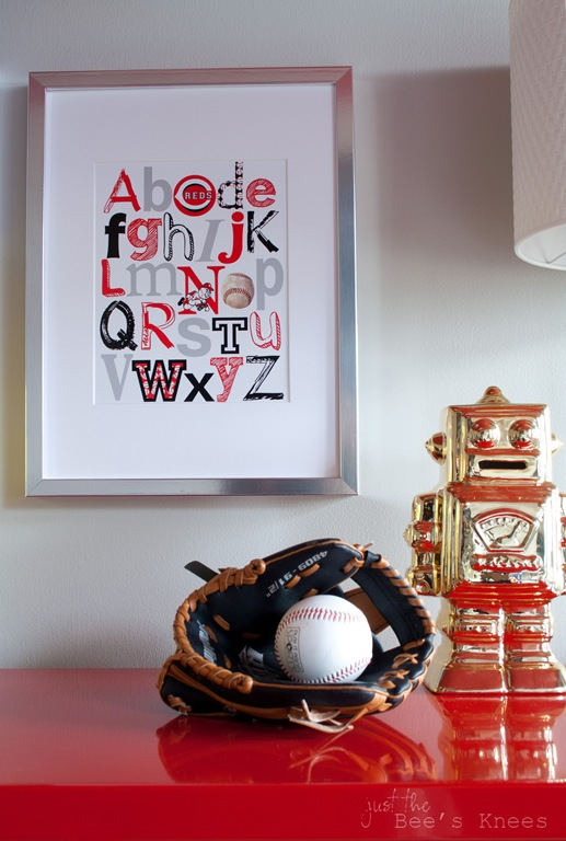 Alphabet baseball print