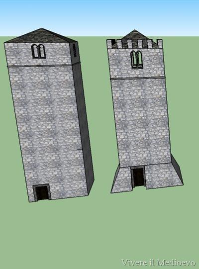 Confronto dell'evuzione dell'abbazia, campanile