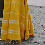 Striped towel gold