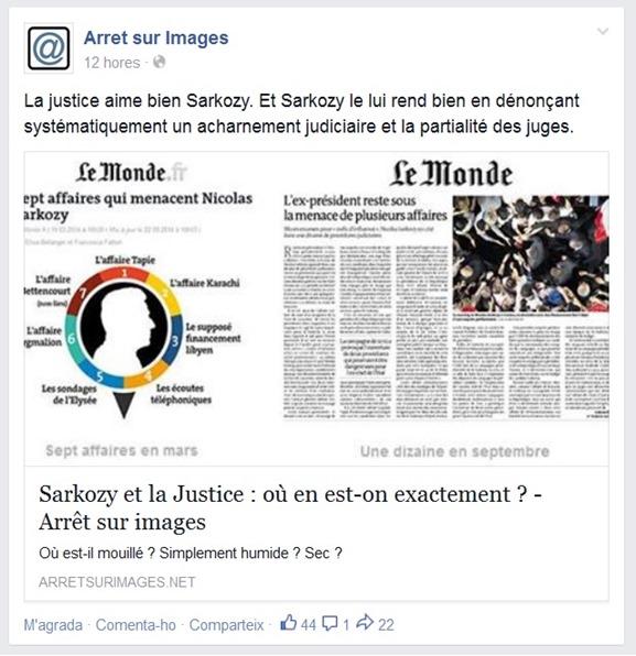 Sarko a la justícia francesa setembre 2014