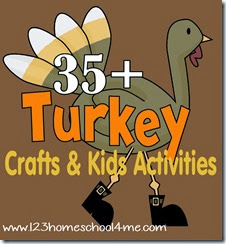 35 turkey crafts and kids activities for thanksgiving