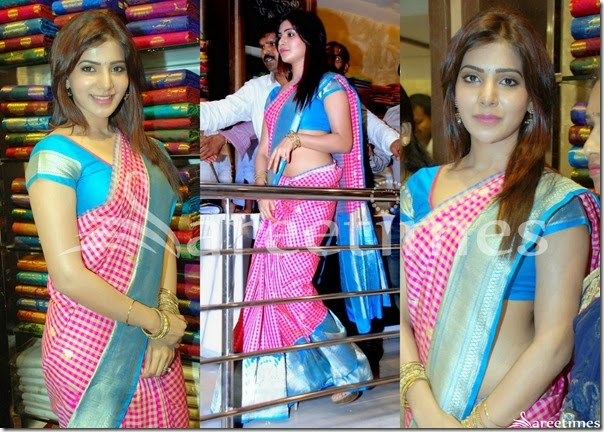 Samantha_Pink_Traditional_Silk_Saree