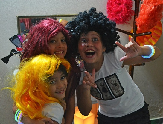 Aline, Cecília e Marina