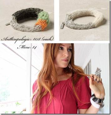 knitted bracelet 1