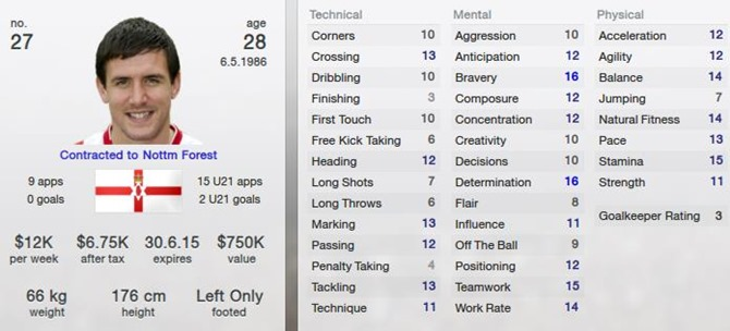 David Buchanan in Football Manager 2013