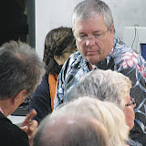 Councilmember Don Couch listens as an audience member at the Tuesday, Jan. 17, meeting of the Kihei Community Association asks if it is legal for commercial trucks to travel on South Kihei Road.
