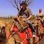 Riding Camels - Yulara, Australia