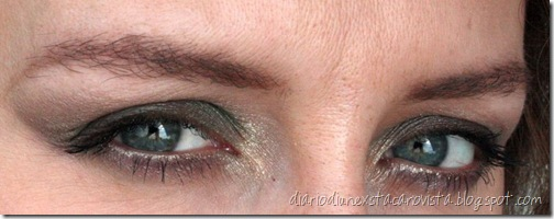 sleek beach party look eyes