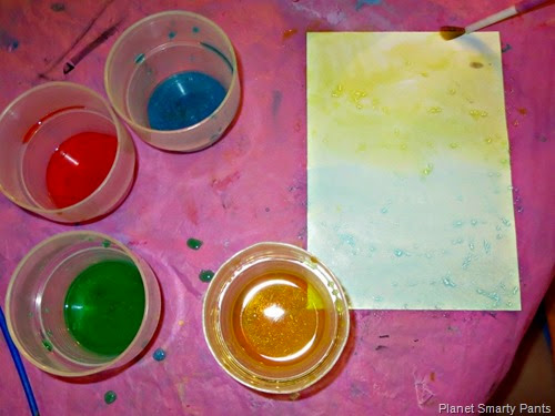 Painting with Crystallizing Watercolors