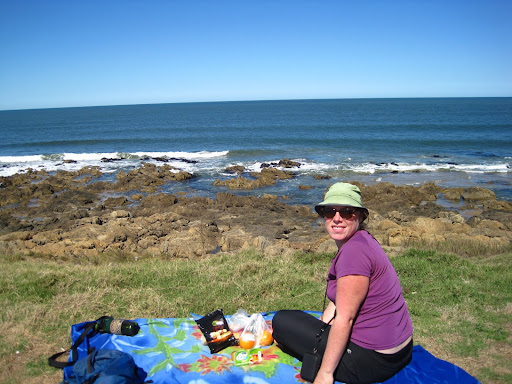 A pretty picnic spot we found cycling around Punta del Este.