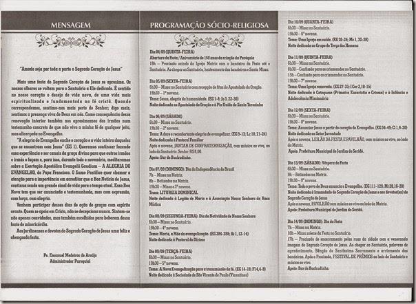 FESTA DO SAGRADO CORAÇÃO DE JESUS (programação)