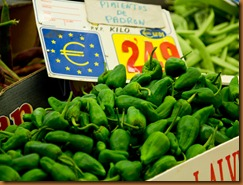 Madrid mercado padron peppers