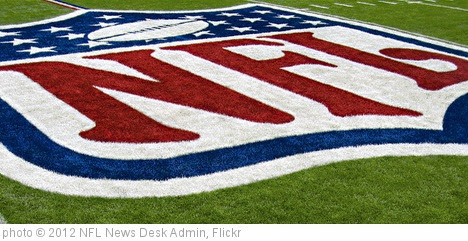 'nfl_logo_on_field' photo (c) 2012, NFL News Desk Admin - license: https://creativecommons.org/licenses/by-nd/2.0/
