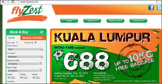 FlyZest to Kuala Lumpur