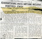 Johannesburg mass meeting mourns martyred jewry