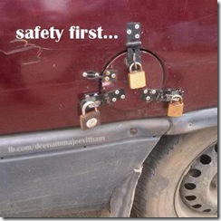 Petrol Rates hiked, Funny picture of locking petrol tank