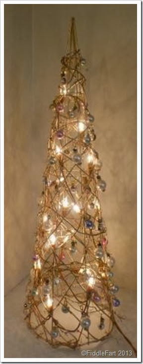Dunelm Illuminated Christmas Tree, bejewelled christmas tree