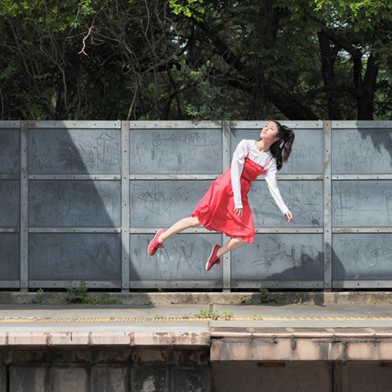 Levitating Self-Portraits by Natsumi Hayashi