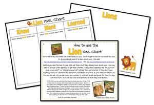 Free Printables Lion KWL Chart