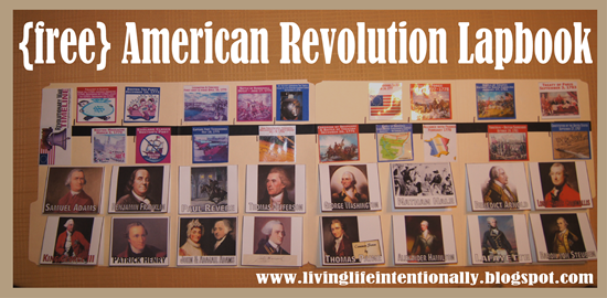 FREE American Revolutionary War Lapbook for Homeschoolers